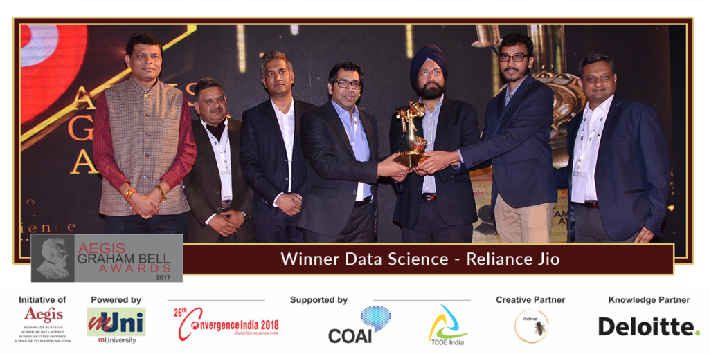 Aegis graham bell awards announced reliance jio infocomm winners
