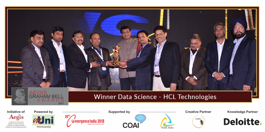 Aegis graham bell awards 8th edition announced hcl technologies winner
